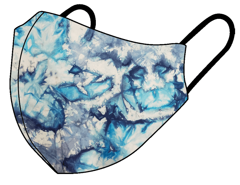 Blue Tie-Dye - Non Medical Face Mask