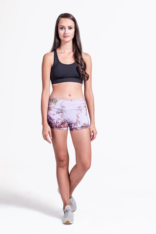 Liberty Shorts in Lavender + Black