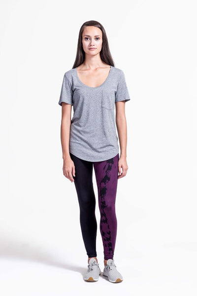 Adriana Leggings in Plum + Black - Daub + Design