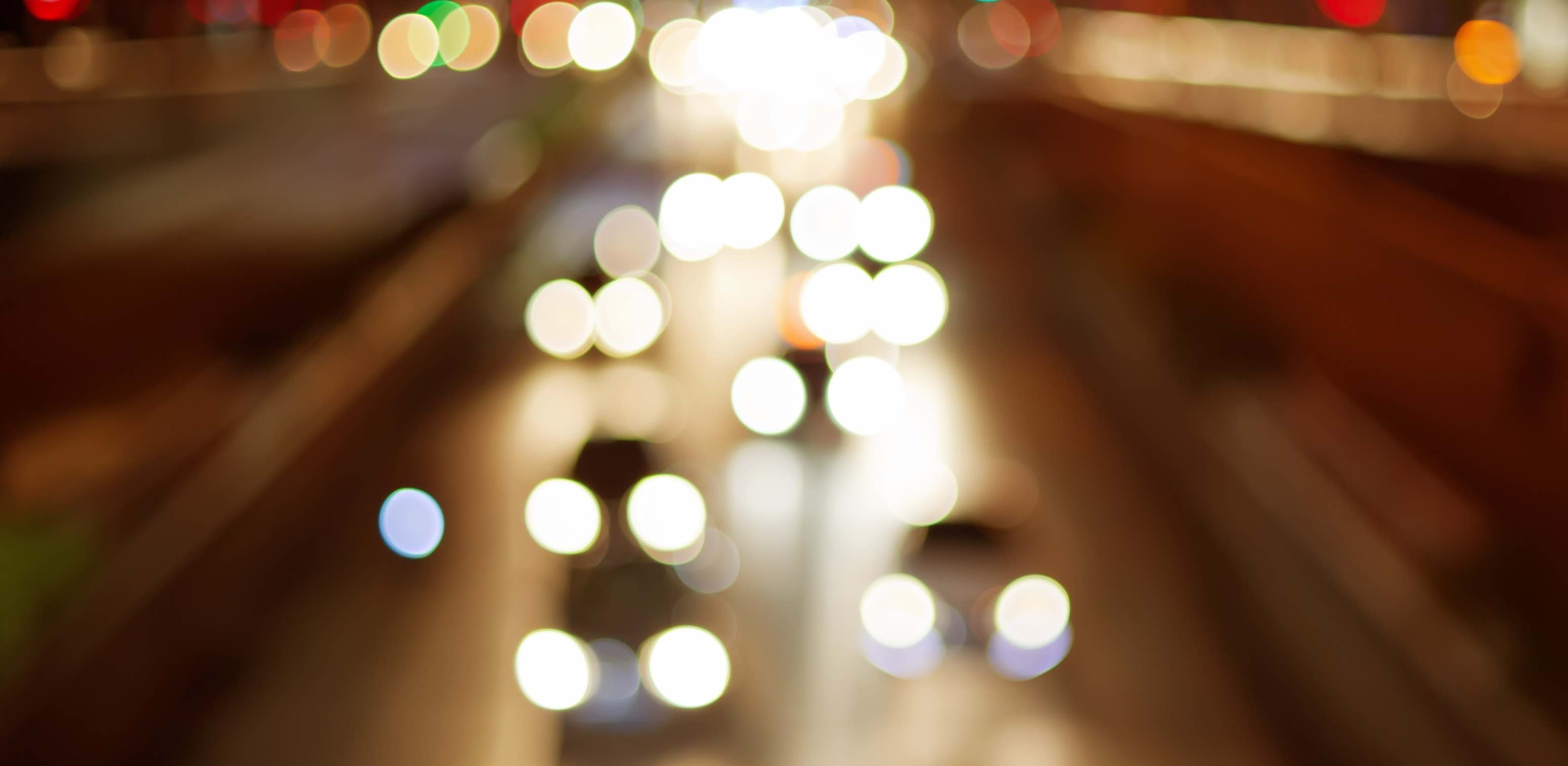 Glare and halos are common with night driving.