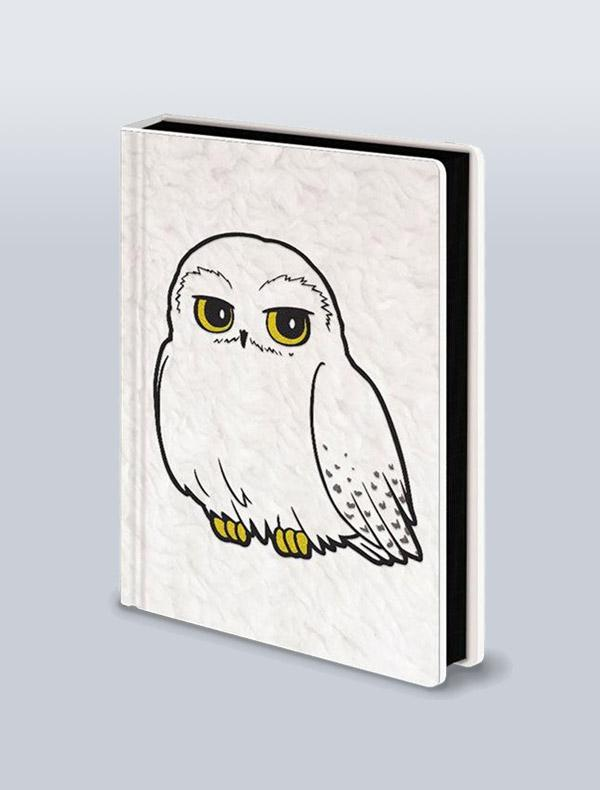HARRY POTTER - CADERNO PREMIUM A5 FLUFFY HEDWIG