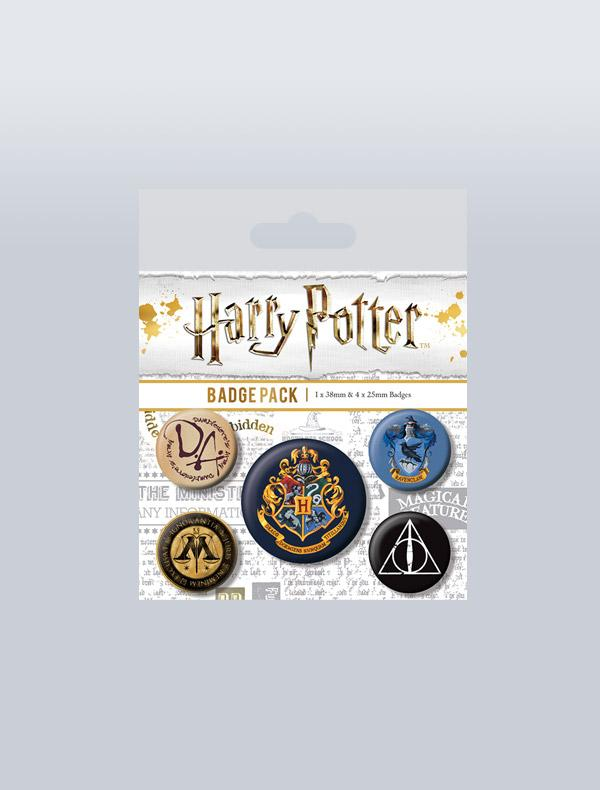 HARRY POTTER - CONJUNTO DE PINS HOGWARTS