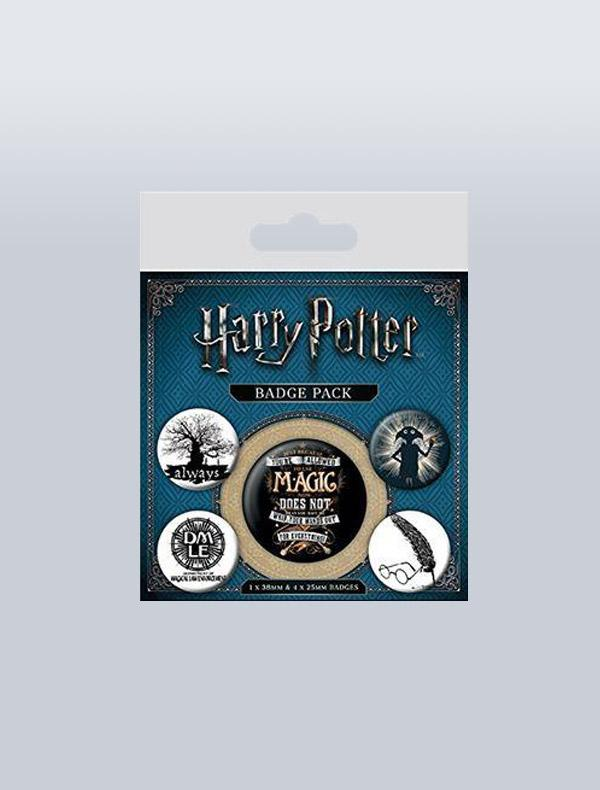 HARRY POTTER - CONJUNTO DE PINS SIMBOLOS