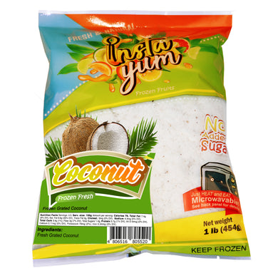 Instayum Frozen Fruits Coconut /  Grated Coconut 1lb (454g)