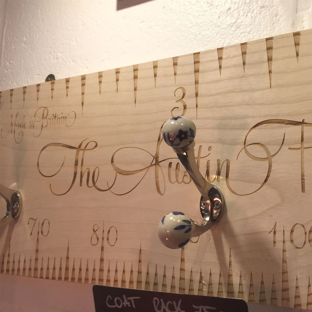 Personalised 75cm Wooden Coat Rack