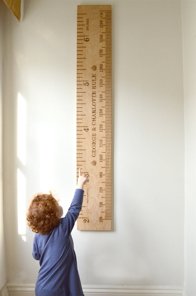 Shorty Oak Kids School Ruler
