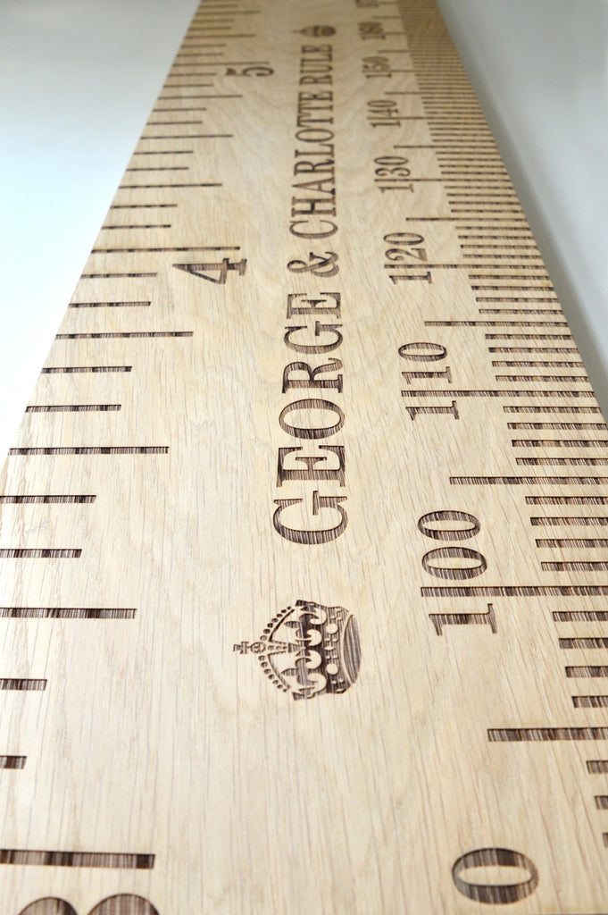 StraightUp Oak Kids School Ruler