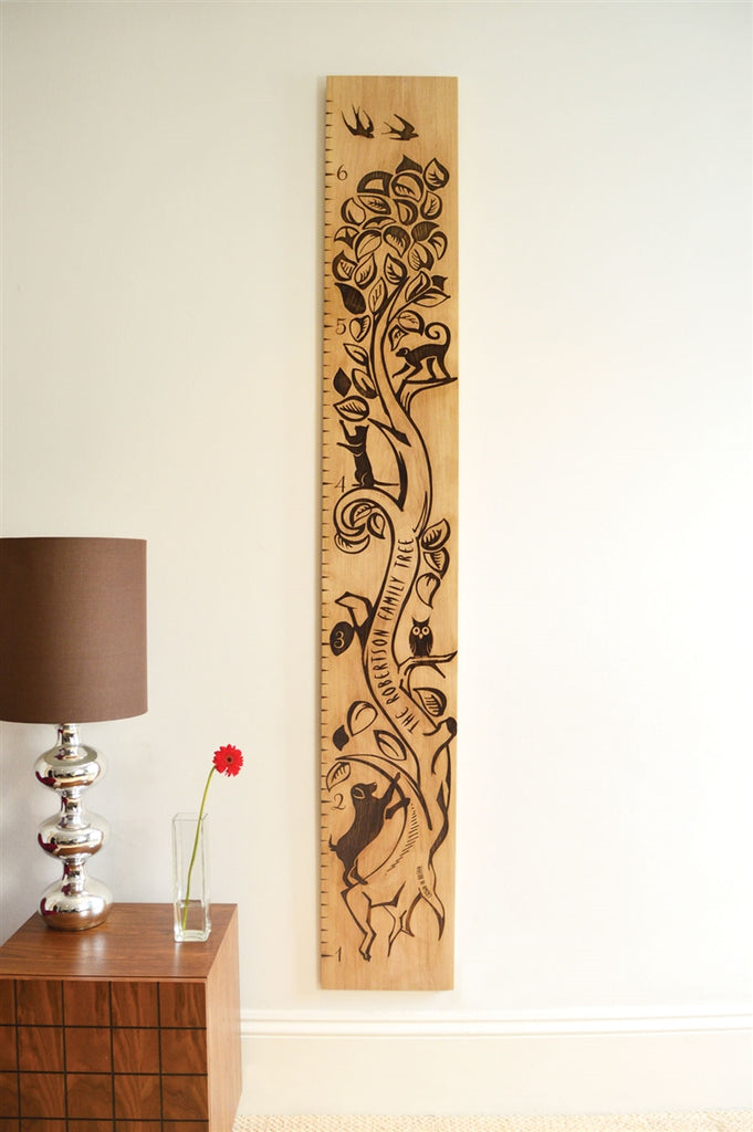 Tree of Life Personalised Oak Height Chart