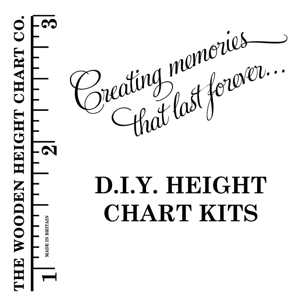 DIY Wooden Ruler Height Chart Kit