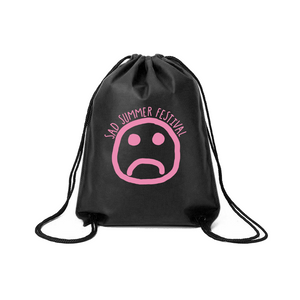 Sad Summer Drawstring Bag