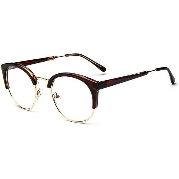 Blue Light Glasses | For Wide Face Brown