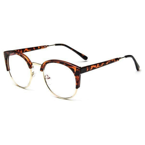 Blue Light Glasses | For Wide Face Leopard