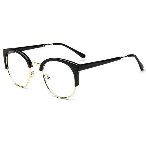 Blue Light Glasses | For Wide Face Black Gold