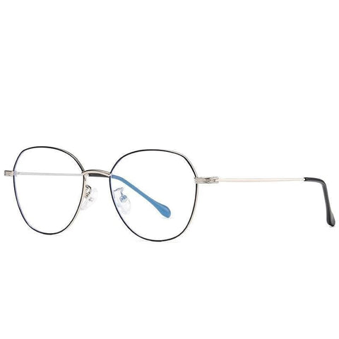 Non Prescription | Blue Light Glasses Black Silver