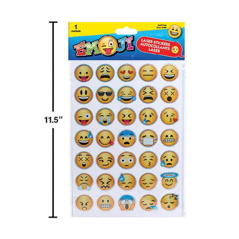 Emoji Laser Stickers