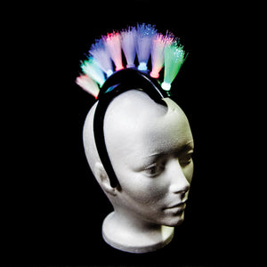 Flashing Mohawk Headbands