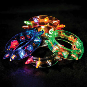 Flashing Spike Bracelets (12 Pack)