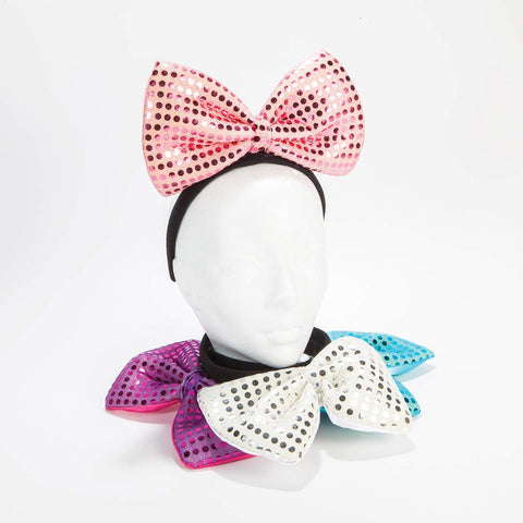 Light Up Sequin Bow Headbands
