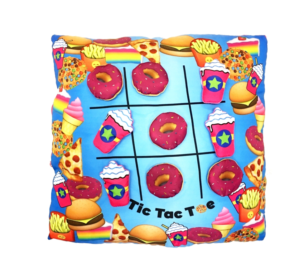 Donuts & Frap Tic Tac Toe Pillow