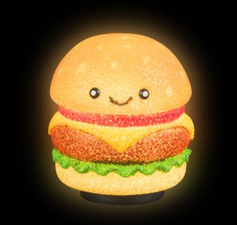 "6.5"" HAMBURGER SPARKLE LAMP"