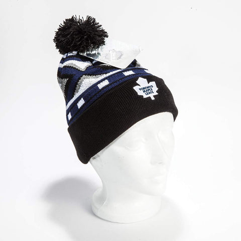 Toronto Maple Leafs pom pom Toque
