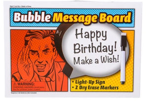 Light Up Speech Bubble Message Board