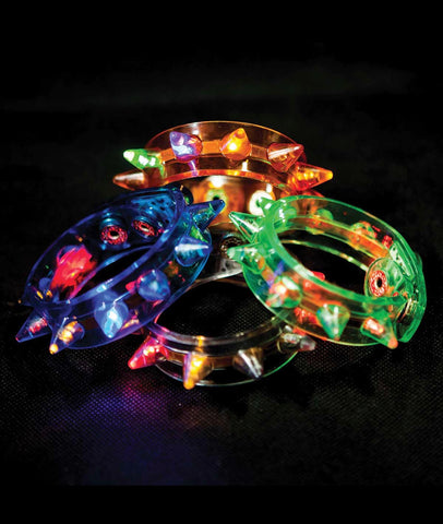 Blinking Spike Bracelets (12 Pack)