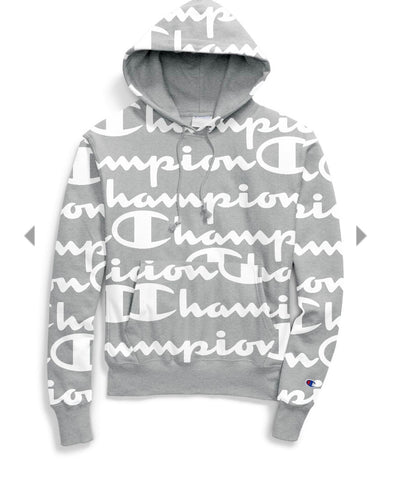 Champion Life® Men's Reverse Weave® Pullover Hoodie, All Over Logo