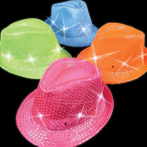 Light Up Neon Fedoras