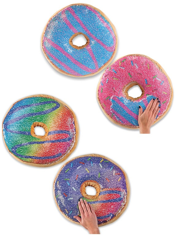 Flip Sequin Donut Pillow