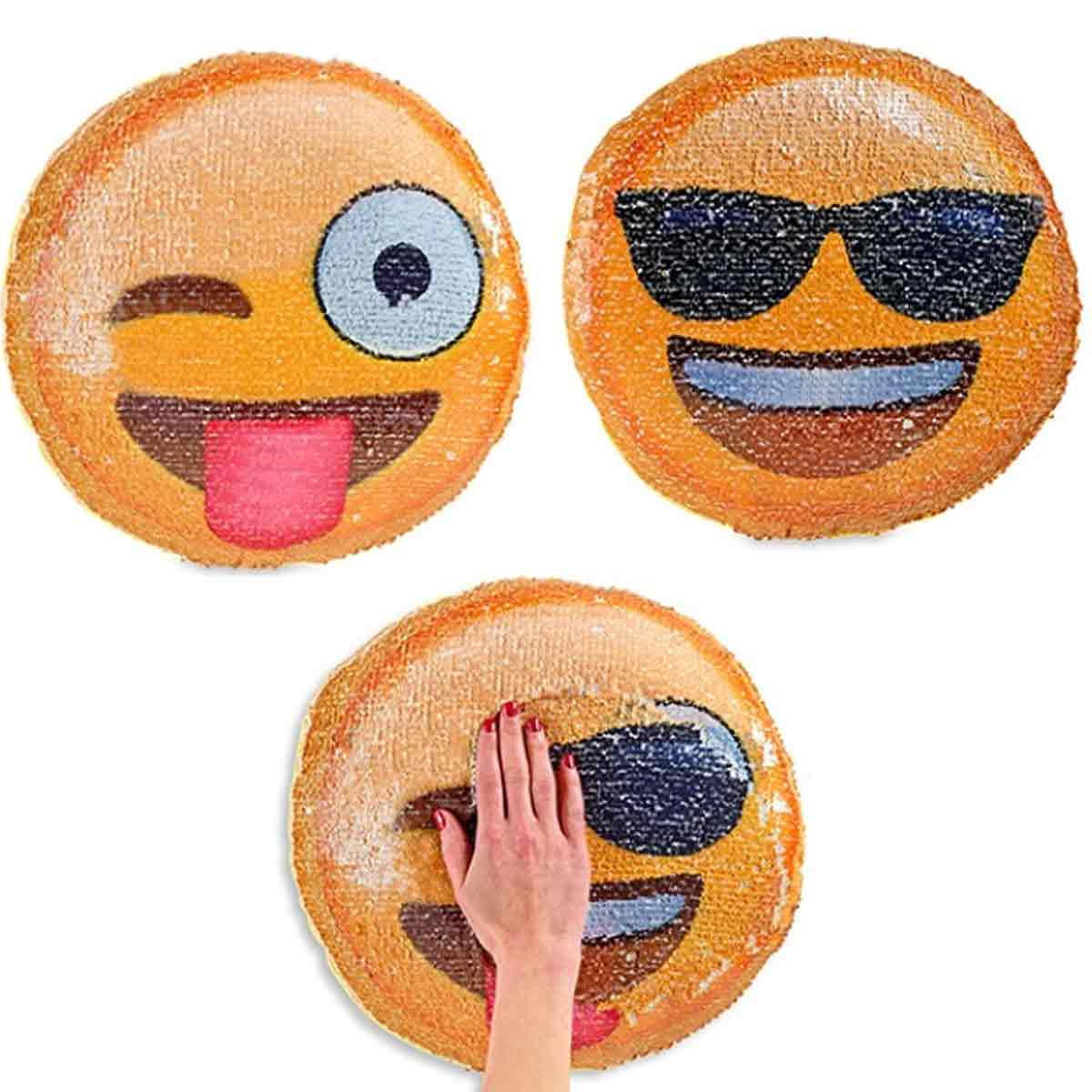 Sequin Emoji Changing Pillow