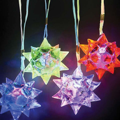 Light Up Spike Ball Necklace (12 Pack)