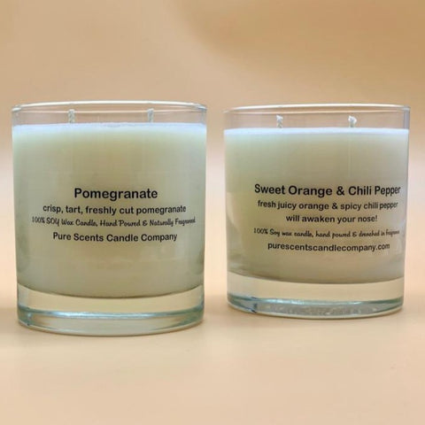 100% Natural Soy Wax Candle - Glass Tumbler