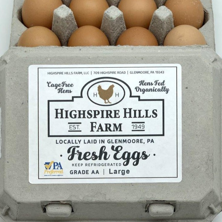 Eggs from Highspire Hills Farm