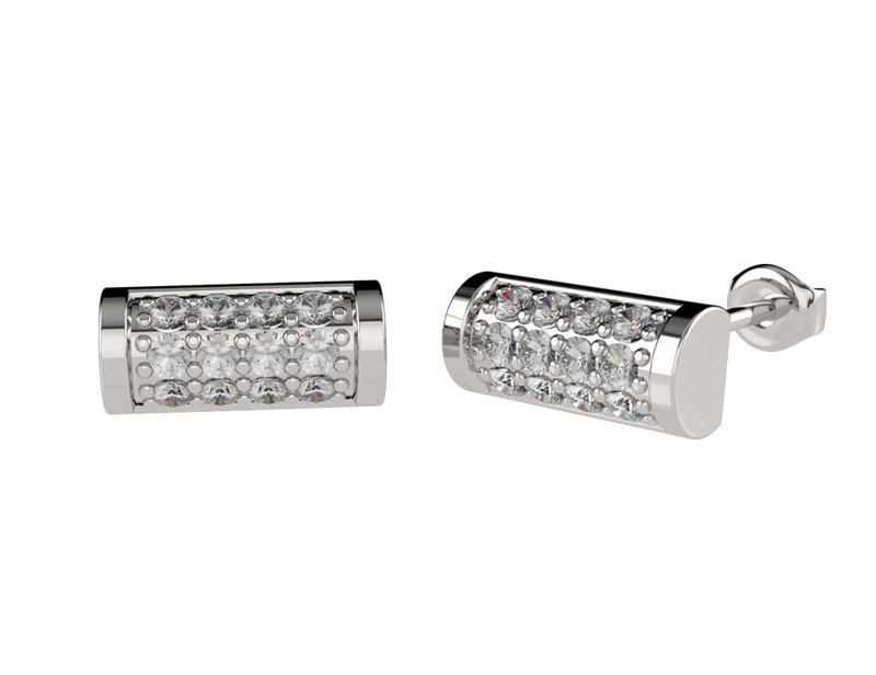 Pave Bar Diamond Earrings