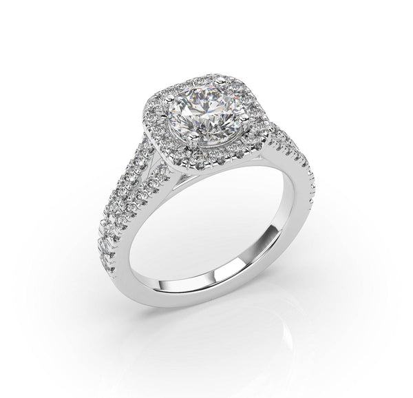 Signature Halo Engagement Ring
