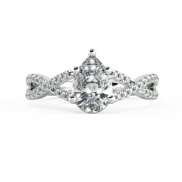 Pear Diamond Solitaire Ring