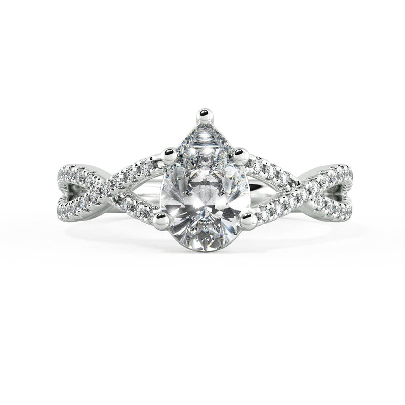 Pear Diamond Solitaire Engagement Ring