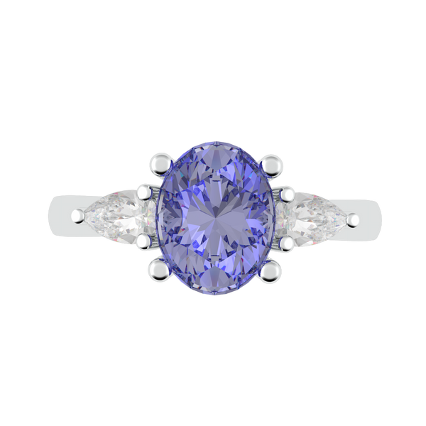 Ceylon Sapphire and Diamond Trilogy Ring (ARTCR004)