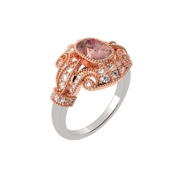 Tulip Morganite Dress Ring