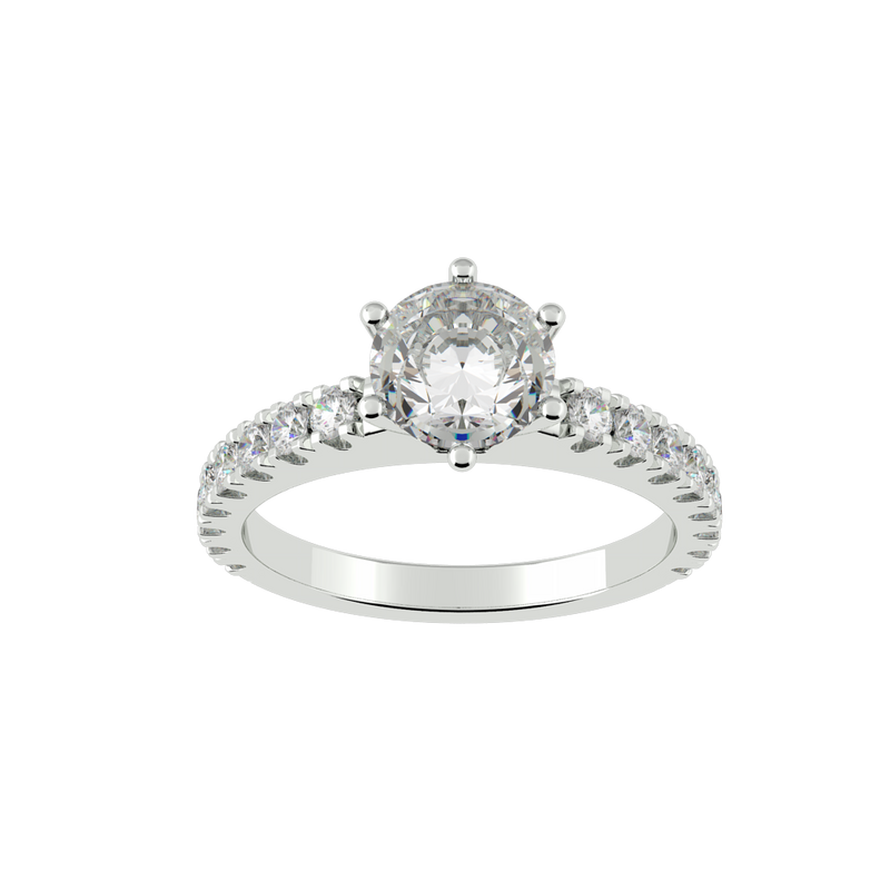 Round Diamond Solitaire Engagement Ring (ARTSR088)