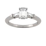 Emerald Cut Diamond Trilogy Ring (ART100)