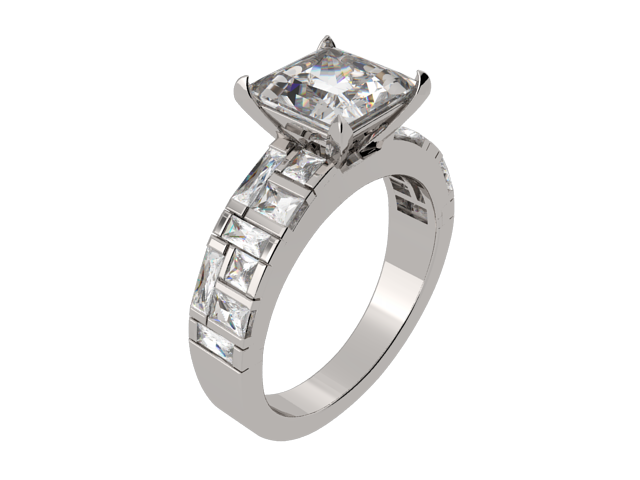 Princess Cut Solitaire Ring (ARTSR105)
