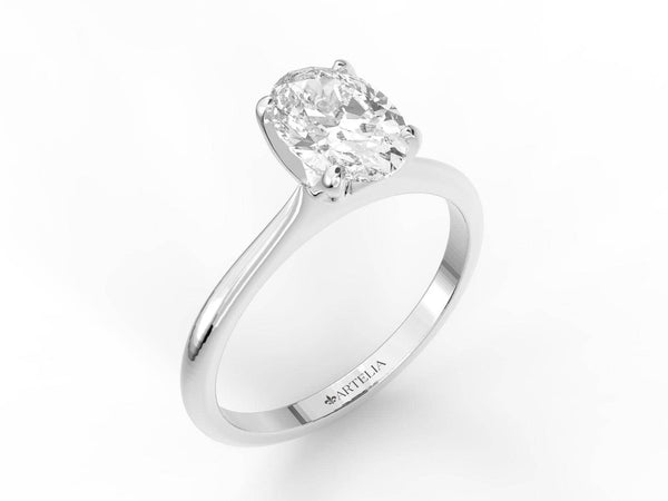 White Gold Oval Diamond Solitaire (ARTSR103)