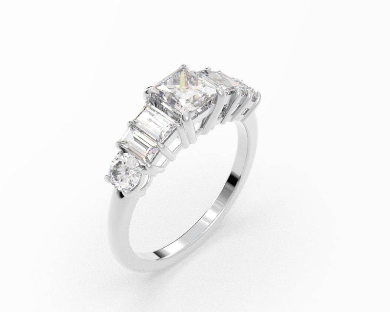 Princess Diamond Solitaire Ring (ARTSR080)