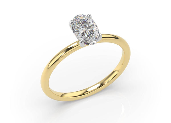 Two Tone Oval Diamond Solitaire (ARTSR109)