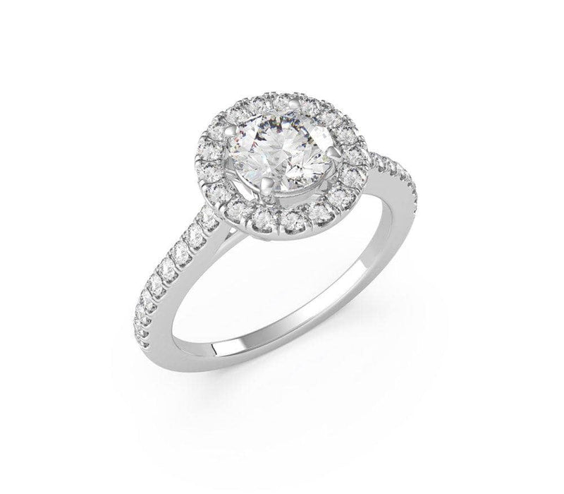 Round Diamond Halo Engagement Ring (ARTHR038)