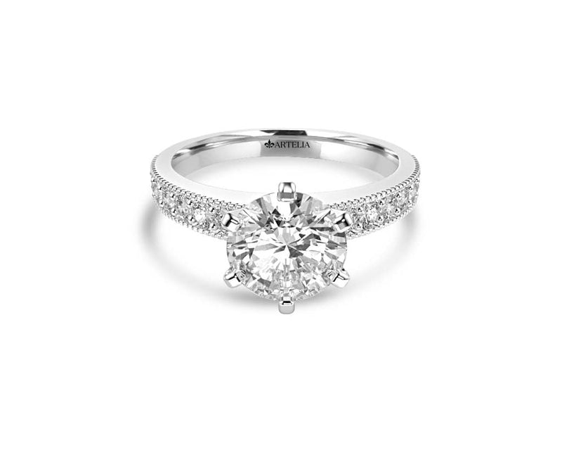 Round Diamond Solitaire Ring (ARTSR041)