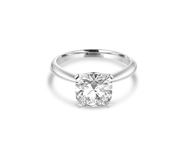 Cushion Diamond Solitaire Ring (ARTSR050)