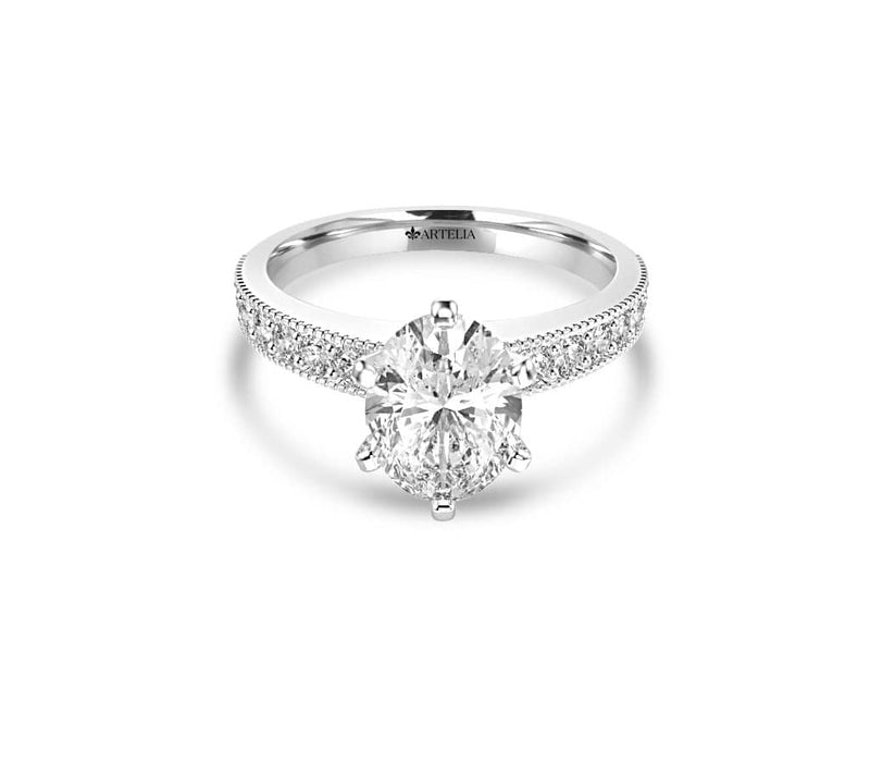 Oval Diamond Solitaire Engagement Ring (ARTSR051)